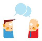 Fala no telefone Foto de Stock
