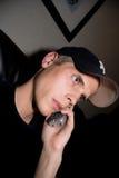 Fala no telefone fotografia de stock