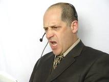 Fala no telefone - irritado Fotos de Stock Royalty Free