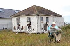 fala o homem de negócios aposentado Fotografia de Stock