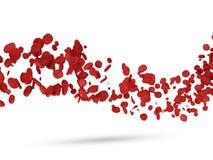 Fala od Czerwonych Komórka Krwi Fotografia Stock