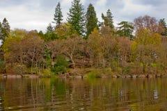 Fala opuszczać motorboat na Loch Lomond wodzie ukazują się Zdjęcia Royalty Free