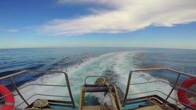 Fala promu statek na otwartym oceanie zbiory
