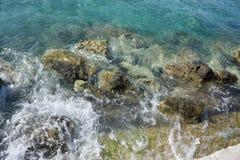 Fala przy morzem, Grecja fotografia stock