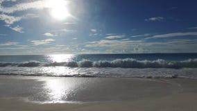Fala przy plażą Seychelles wyspy zdjęcie wideo