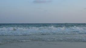 Fala przy Samet plażą zbiory wideo