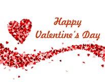 Fala robić czerwoni serca Walentynki ` s dzień ilustracja wektor