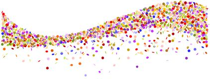 Fala robić kolorowi confetti royalty ilustracja