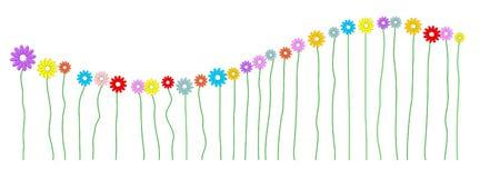 Fala robić kolorowi kwiaty ilustracji