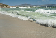 Fala rozbija na piasku obrazy royalty free
