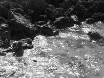 Fala & skały Fotografia Stock
