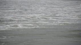 Fala W Burzowym morzu zbiory wideo