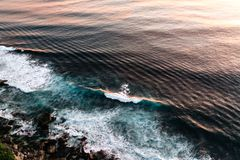 Fala w oceanu che?botania fala obraz stock