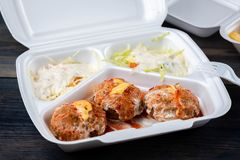 Falafel с овощами стоковые изображения rf