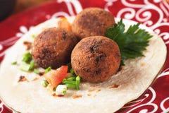Falafel, alimento classico del Medio-Oriente Fotografia Stock Libera da Diritti