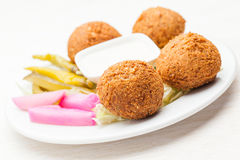 Falafel as a sappetizer on a plate Royalty Free Stock Photography