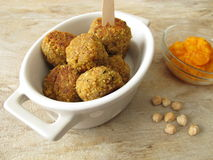 Falafel balls with carrots dip Stock Photography