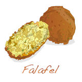 Falafel balls isolated on a white background Stock Photo