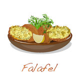 Falafel balls isolated on a white background Stock Image