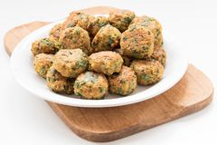 Falafel balls on white plate Stock Photo