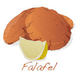 Falafel balls on a white background Stock Images