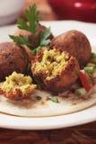 Falafel, bliskowschodnie chickpea piłki Zdjęcie Royalty Free