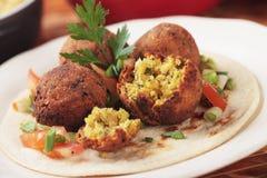Falafel, bolas do Oriente Médio do grão-de-bico Fotos de Stock