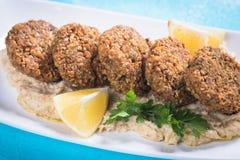 Falafel, boules frites de pois chiche Photographie stock