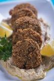 Falafel, boules frites de pois chiche Images stock