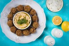 Falafel, boules frites de pois chiche Photographie stock libre de droits