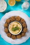 Falafel, boules frites de pois chiche Image libre de droits