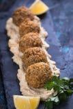 Falafel, boules frites de pois chiche Image stock