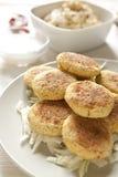 Falafel caseiro e Hummus Fotografia de Stock