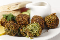 Falafel chickpea balls closeup Royalty Free Stock Image