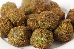 Falafel chickpea and herb balls on a plate close up Stock Photography