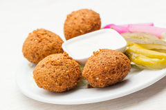 Falafel come sappetizer su un piatto Immagine Stock