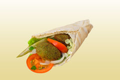 Falafel con la ensalada Imagen de archivo