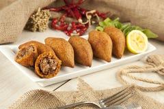 Falafel de kofte d'icli de Ramadan Food de turc (boulette de viande) Photos libres de droits