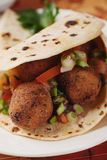 Falafel, deep fried chickpea balls Stock Image