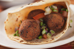 Falafel, deep fried chickpea balls Stock Photos