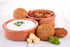 Falafel and dip Royalty Free Stock Image