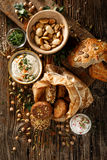 Falafel and dip, healthy and delicious vegan food Stock Images