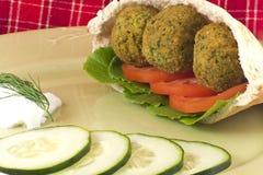Falafel em Pita Pocket Imagens de Stock