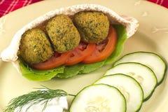 Falafel em Pita Pocket Imagem de Stock