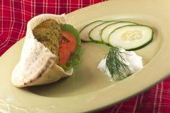 Falafel em Pita Pocket Foto de Stock Royalty Free