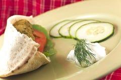 Falafel em Pita Pocket Fotografia de Stock Royalty Free
