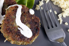 Falafel and Fork Royalty Free Stock Images