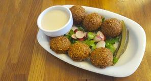 Falafel. Fresh arabian falafel is ready to serve Royalty Free Stock Photo