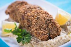 Falafel, fried chickpea balls. Falafel, middle eastern fried chickepa balls, popular fast food meal Stock Images