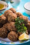 Falafel, gebraden kikkererwtenballen Royalty-vrije Stock Afbeeldingen